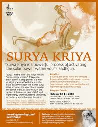 surya kriya fire up the sun within isha hatha yoga