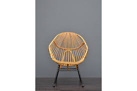 original vintage retro mid century vintage bamboo cane wicker rattan tub chair photo