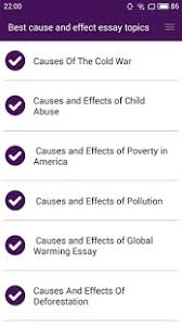 best cause and effect essays android apps on google play best cause and effect essays screenshot thumbnail