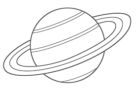 Small Picture Coloring Pages of Saturn Coloring Pages