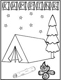 Small Picture Perfect Design Camping Coloring Pages Camp Activities Coloring Pages