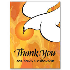 thank you for being my sponsor