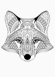 Fox Coloring Sheet Free Printable Coloring Pages For Adults 12 More