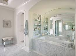 alcove shelves ideas bathroom traditional with glass shelves large mirror