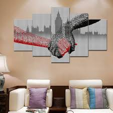 office artwork canvas. Contemporary Artwork 5 Piece Picture Of Shake Hands Wall Art Canvas Modular Painting Office  Decor Unique Gift Abstract For Office Artwork Canvas