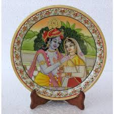 Small Picture Home Decor Handicrafts Miniature Painting of Radha Krishna