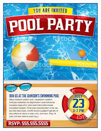 pool party invitation template stock vector art istock 1 credit
