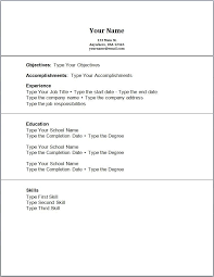 Simple Resume With No Experience Http Jobresumesample Com 999