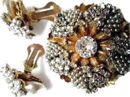 Vintage <b>Rhinestone Pearl Brooch</b> Miriam Haskell 1950s   Vintage ...