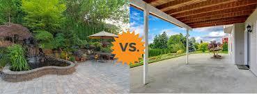 average cost of concrete vs paver patio