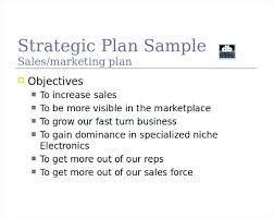 Marketing And Sales Strategy Template Also Strategic Plan Sample ...