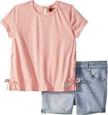 Amazon Com 7 For All Mankind Kids Womens Peach Tee And
