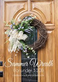 front door wreaths for summerDIY Summer Wreath for Under 10  Confessions of a Serial Doit