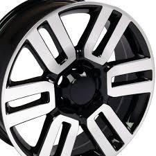 Toyota 4Runner Style Replica Wheel Black Mach'd Face 20x7