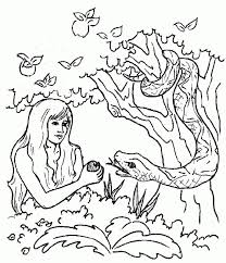 Adam And Eve Coloring Pages For Kids Adam Eve Color Pages Adam And