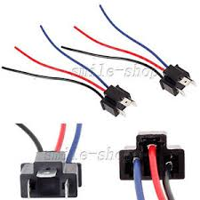 2 h4 9003 headlight bulb male pigtail wire harness connector plug wire harness connection at Wire Harness Connectors