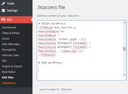 create and edit wordpress htaccess file
