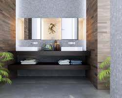 bathroom: Tropical Bathroom Themed With Oak Vanity Units Plus Surround With  Awesome Wooden Wall Design