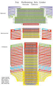 fox performing arts center seating chart