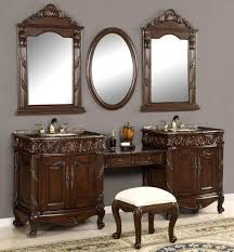 Furniture: Traditional Makeup Vanity Table And Bench Set - Best ...