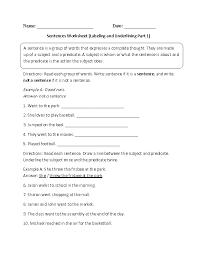 Sentences Worksheets | Simple Sentences Worksheets