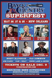 Bayou Country Superfest 2018 Seating Chart Bayou Country Superfest Fan Fest Arhistratig