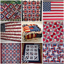 A Girl In Paradise: Mosaic Monday - Red, White, & Blue Quilts & Patriotic Flags Rag Quilt Pincushion, 6. 33-BQ 54x72, 7. 75-bee red/white/ blue 67x57, 8. Americana, 9. red, white, & blue quilt Adamdwight.com