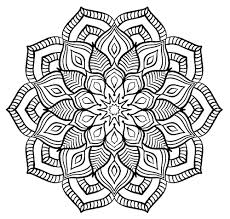 Mandala Big Flower Mandalas Coloring Pages For Adults Justcolor