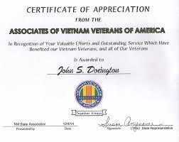 Certificate Of Appreciate Avva Certificates