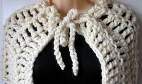 Chunky Yarn Crochet Patterns Beauteous Mel P Designs FREE CHUNKY CAPELET Crochet Pattern