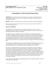 Free New Employee Appointment Letter Templates At