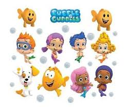 >bubble guppies 10 characters logo decal removable wall sticker  image is loading bubble guppies 10 characters logo decal removable wall