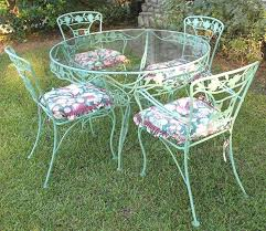 iron patio furniture.