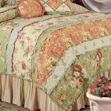 garden dream all cotton quilt cream