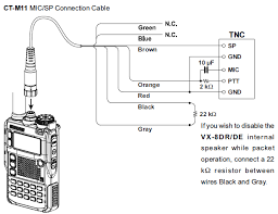 wire diagram of yaesu ct m11 cable connected to yaesu vx 8dr radio wire diagram of yaesu ct m11 cable connected to yaesu vx 8dr radio transceiver