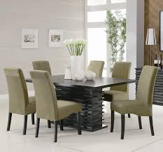 table fabulous contemporary and chairs 13 dining room white leather chair corner plant pot mirrored storage