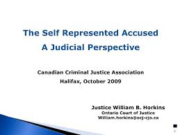 The Self Represented Accused Canadian Criminal Justice