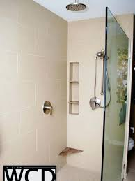 daltile kimona silk trendy bathroom photo in imperial gray daltile kimona silk