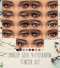 makeup geek 9 eyeshadow starter kit for ts4 standalone eye shadow set with swatches