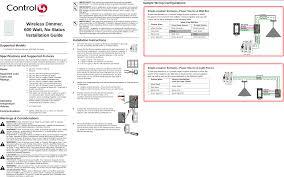 c4dim1z wireless dimmer user manual 200 page 1 of c4dim1z wireless dimmer user manual 200 00143 wirelessdimmer 600w nostatus reva fm control4