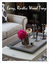 easy diy rustic wood tray from a picture frame