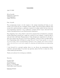 Collection Of Solutions Cover Letter Samples For Students Summer