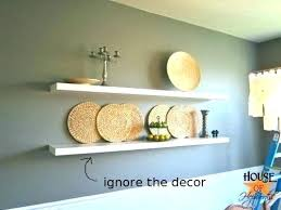 long white floating shelves thin shelf dining room shelving extra large