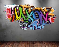 graffiti bedroom wall stickers