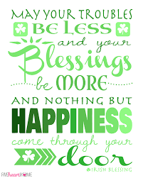 Irish Blessing Quotes Cool St Patrick's Day Free Printable Irish Blessing