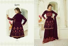 Heavy Designer Suits Wholesale Lavina Vol 54 Heavy Designer Sarara Bottom Embroidered Suits