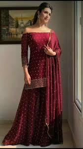 Off Shoulder Designer Suits Beautiful Lehanga And Off Shoulder Shirt Pakistani Dress