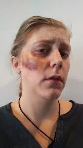 bruise makeup using kryolan bruise wheel makeup by v vanderkolk