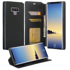 galaxy note 9 case note 9 wallet case samsung galaxy note 9 pu leather case cash credit card slots holder carrying flip cover kickstand black