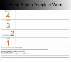 Rubric Template Microsoft Word Rubric Template Microsoft Word Capriartfilmfestival